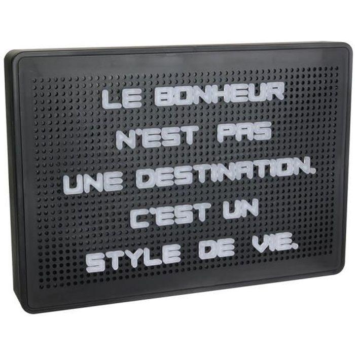 WORD Tableau à message lumineux - 200 Lettres - Noir