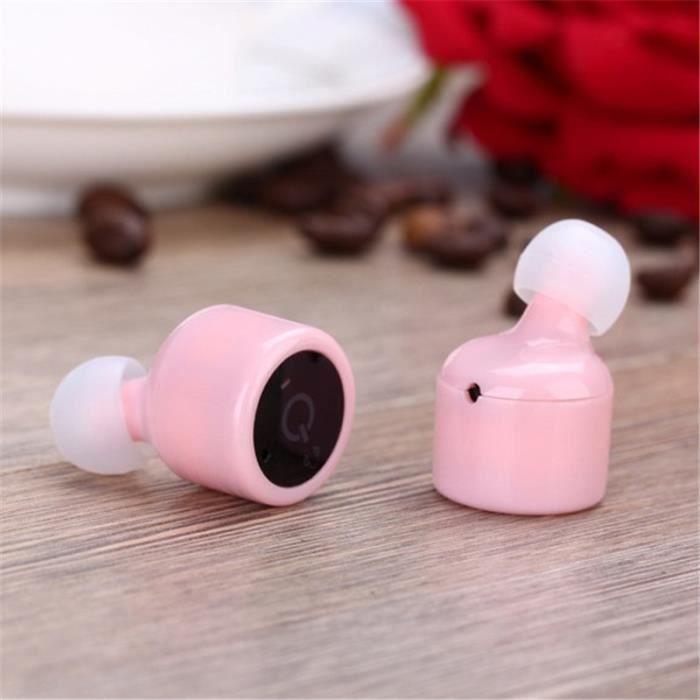 Casque Bluetooth Haute Qualite Sport Ecouteur Sans Fil Nouvelle Mode Haut Qualité Durable Rose