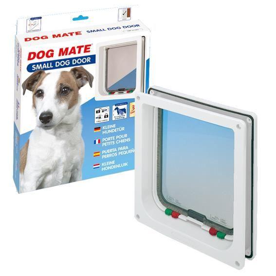 DOG MATE Porte Pour Chien Blanc Taille S W Achat Vente - Porte pour chien