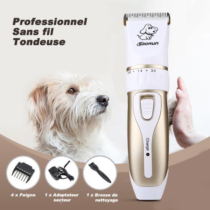 Tondeuse Chien Chat Electrique Animal Rechargeable Sans Fil Rasoir Toilettage Pet Clippers Pour Poil D'animaux