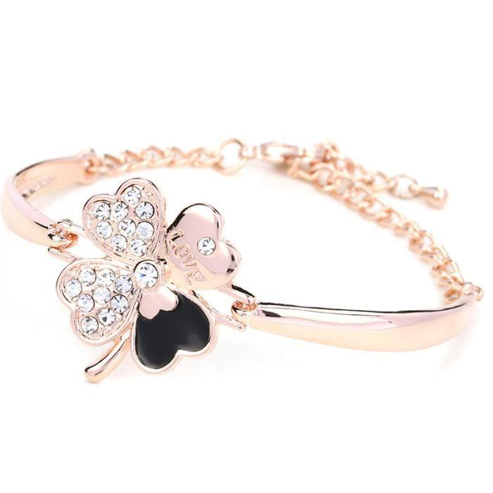 Clover Accessoires Bijoux Bracelets Cristal Femmes Bracelets Mode