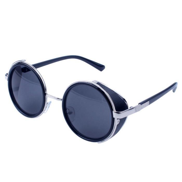 c44a3af5b1581b Lunettes Vintage Aviateur Deuxsuns®Femmes Unisexe Rétro Sungla Hommes Mode  Miroir Voyage Lentille zf740 5r5nYtx ...