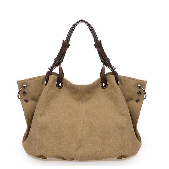 Canvas grand sac à main Shopping Mode Hobos L7F16