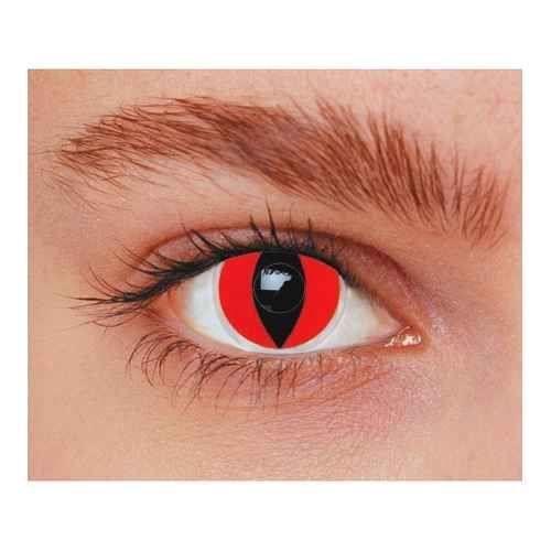 55c6bda55cbd15 Lentilles yeux de chat rouges - Achat   Vente masque - décor visage ...