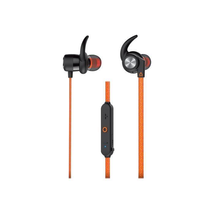Creative Outlier Sports - Écouteurs Avec Micro Intra-auriculaire Sans Fil Bluetooth Orange Ardent
