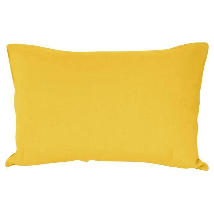taie d oreiller jaune achat vente taie d oreiller jaune pas cher soldes d s le 10 janvier. Black Bedroom Furniture Sets. Home Design Ideas