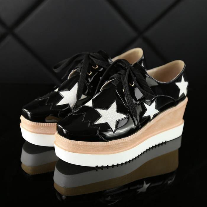 chaussures de skate-Square Toe des femmes dente...