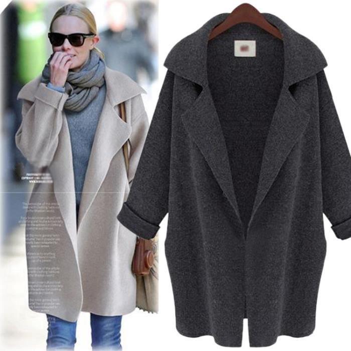 Manteau mi long femme Achat Vente pas cher