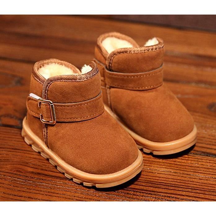 Bottes de coton pour enfants 2018 printemps nouvelle fille grand coton en peluche bottes de neige chaude grand bottes chaudes BmZerUQF