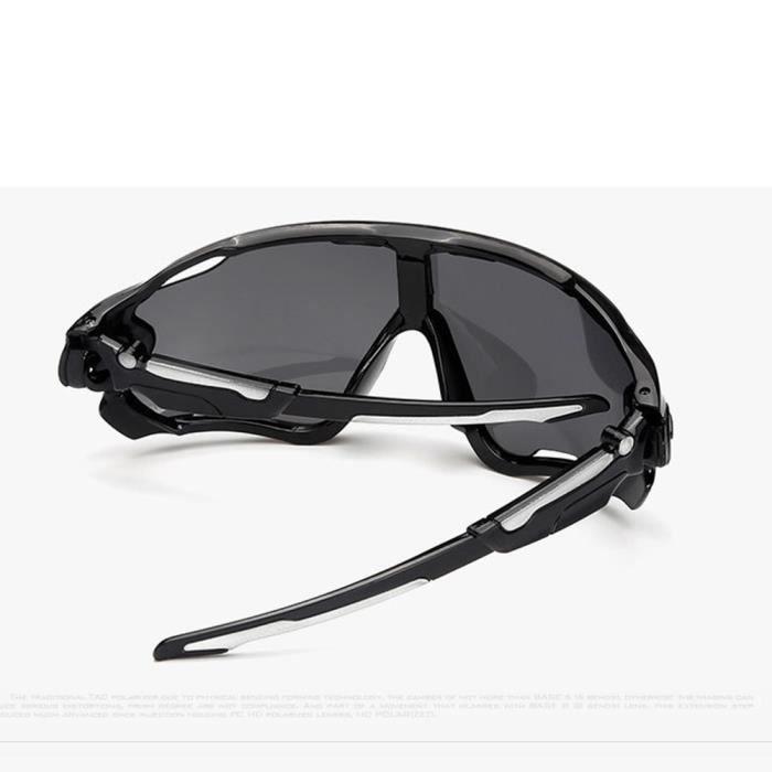 Lunettes de soleil mixte homme et femme sport de Fashion Protection Cadre sunglasses Anti-Collision Blanc/Noir/Violet