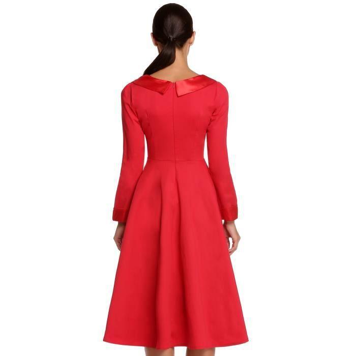 robe vintage femme classique avec ceinture