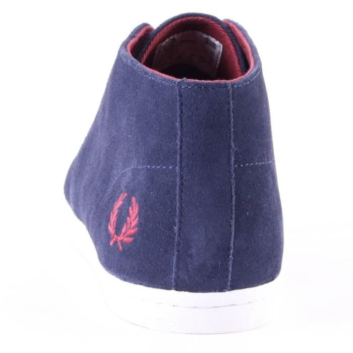 Fred Perry Byron Mid Hommes Bottes chukka Carbon Blue - 11 UK