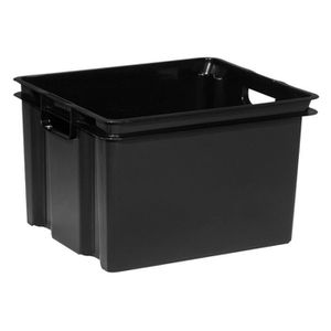 caisse rangement plastique achat vente caisse rangement plastique pas cher cdiscount. Black Bedroom Furniture Sets. Home Design Ideas