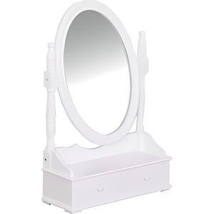 COIFFEUSE Coiffeuse grand miroir avec 2 tiroirs range bij...