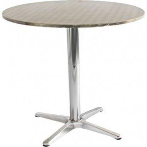 Table de jardin en aluminium ronde - Achat / Vente Table de jardin ...