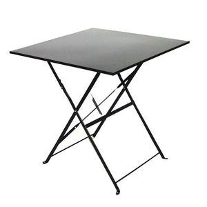 Table de jardin pliante noire - Achat / Vente pas cher