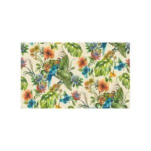 PAPIER PEINT Papier peint Perroquet sur fond coloré Ecru 10 m x
