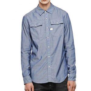 Chemise G STAR Landoh Rinsed - Achat   Vente chemise - chemisette ... 2b6101c8b98d