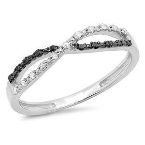 ALLIANCE - SOLITAIRE Bague Femme Diamants 0.10 ct 471-1000  Argent Fin