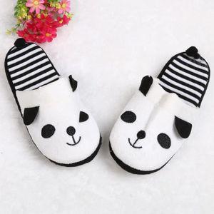 CHAUSSON - PANTOUFLE Cartoon Panda Home Rideau doux au sol Pantoufles F