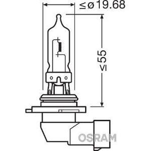 AMPOULE TABLEAU BORD OSRAM Lampe de phare halogène Original Hb3