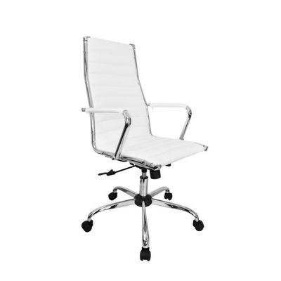 Fauteuil De Bureau Design Tiffany Blanc Achat Vente Chaise