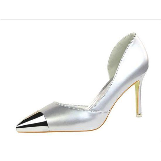 Chaussure à Talon Aiguille pour les Femmes  Argent - Achat / Vente escarpin