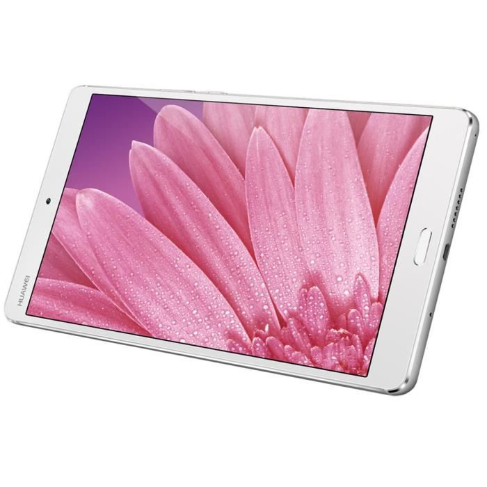 Huawei Tablette Tactile - Mediapad M3 - 8,4'' - Stockage 32Go - 4Go RAM - Android 6 - Octa-Core - Wifi - Argent