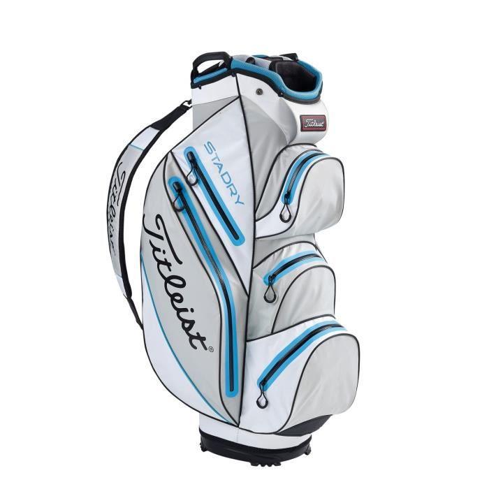 TITLEIST Sac de Golf StaDry Cart - Gris, Blanc et Bleu
