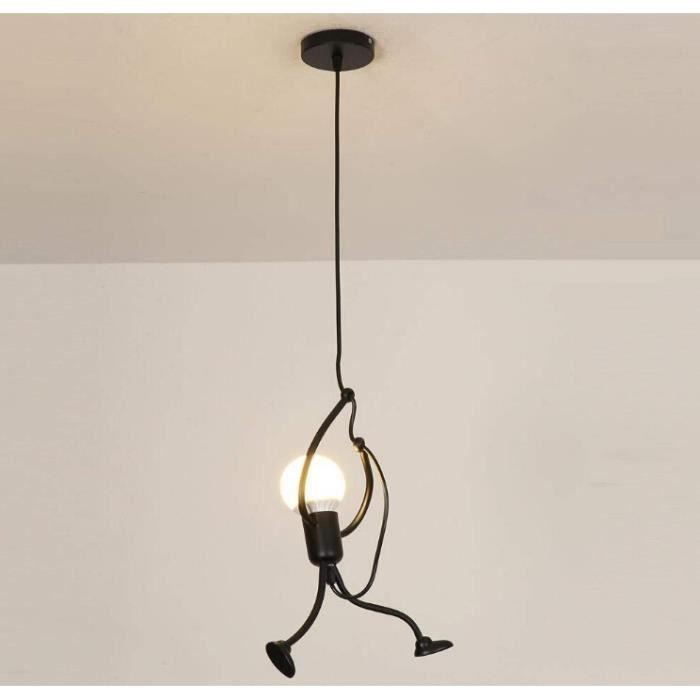Lampe Grenier Tête Gens Moderne Créatif Fer Dessin Animé Suspension Pour Des Enfants 1 Conception Chevet Suspendue Chambre Salon dCxWroBe