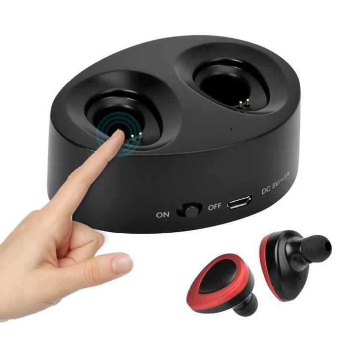 Tws-k2 Casque Stéréo Sans Fil À Double Oreille Avec (compatible Bluetooth) (rouge)