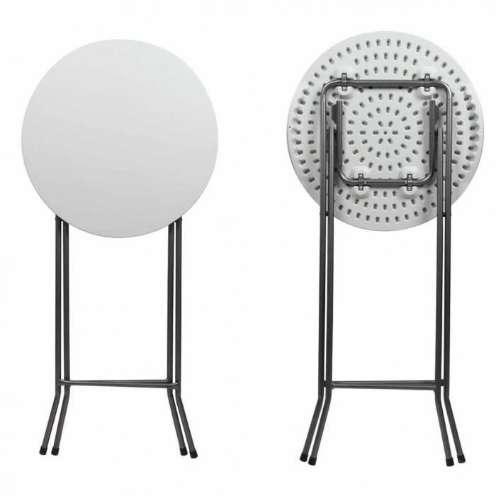 TABLE BASSE Magnifique Perel Table de bar pliable Ronde 60 x 1