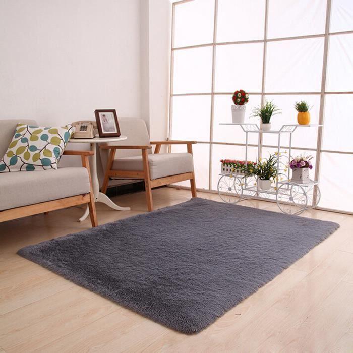 Tapis moelleux anti-dérapant shaggy tapis de salle à manger maison ...
