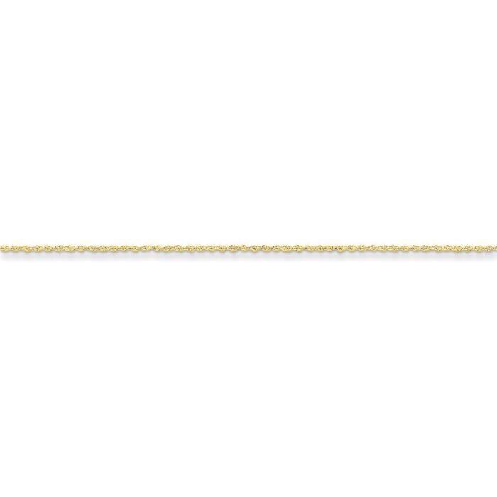 14 carats - 1,1 mm corde chaîne collier - 20 cm-anneau à ressort