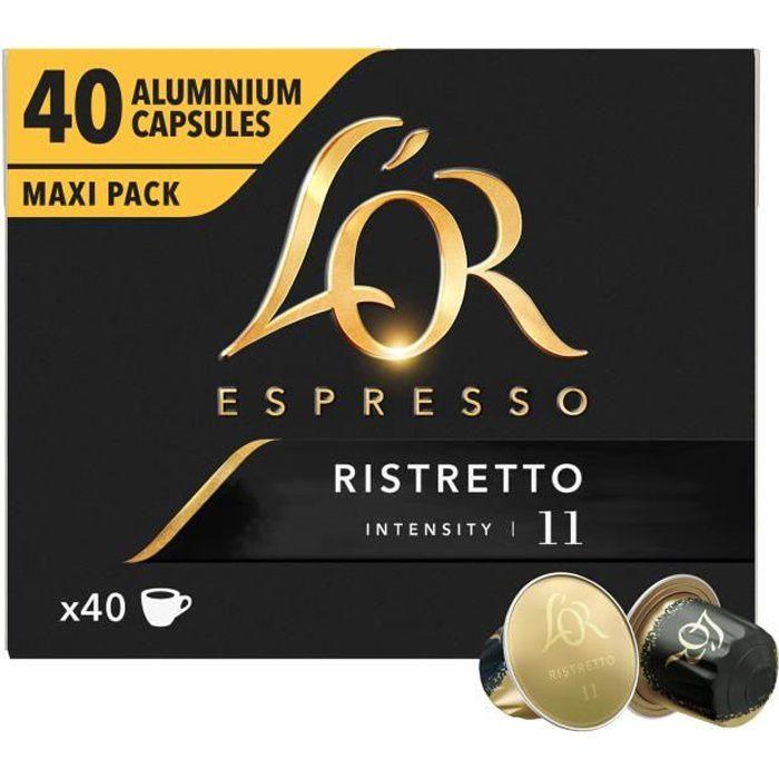 CAFÉ Café Capsules L'Or Espresso Ristretto en aluminium