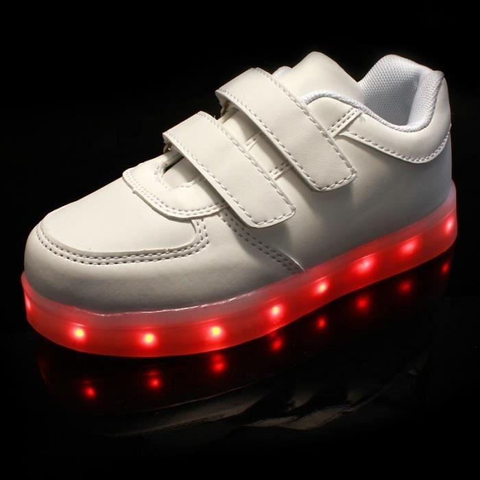 Faits saillants Nouveau Lampe LED de charge Enfants Casual Shoes Chaussures légères