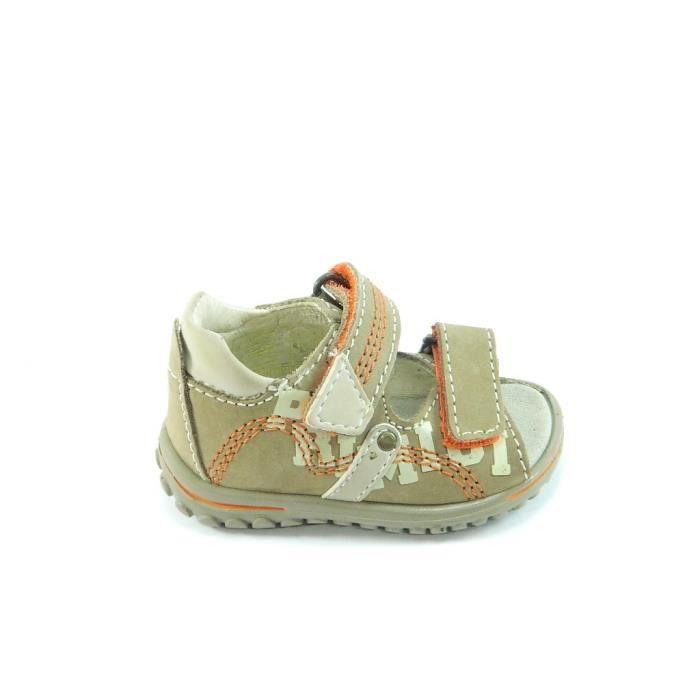Primigi Sandales Petit Garçon Velcro Cuir Beige 89251