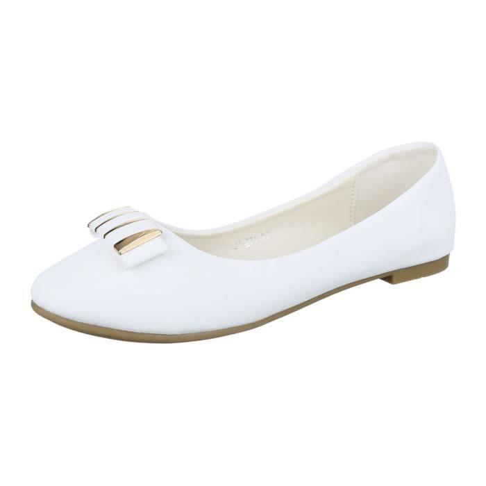 ballerine Glisser mocassin femme flâneurs surescarpin blanc chaussure ZqOpC