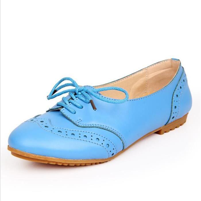 Chaussures Femmes Cuir Occasionnelles Leger Chaussure BBJ-XZ043Bleu40