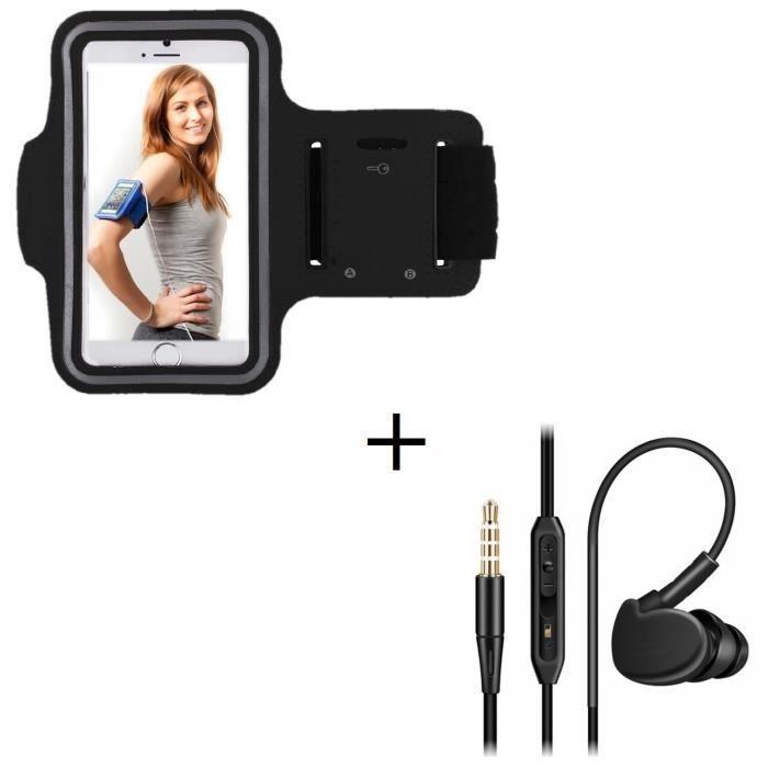 Pack Sport Pour Htc 10 Smartphone (brassard De Ecouteurs Intra-auriculaire Avec Micro) - Couleur:noir