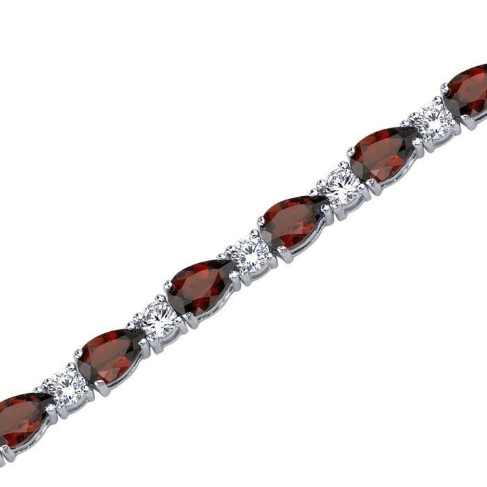 Bracelet - Femme -Argent- GrenatPoire