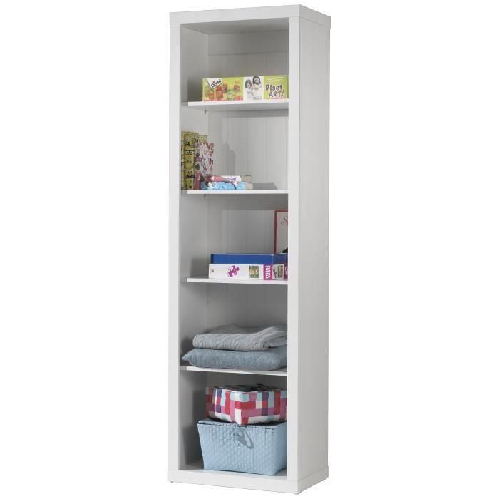 robin biblioth que laqu e blanche achat vente. Black Bedroom Furniture Sets. Home Design Ideas