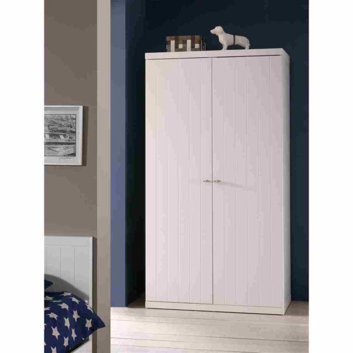 ROBIN Armoire 2 Portes Laquée Blanche - Achat / Vente armoire de ...