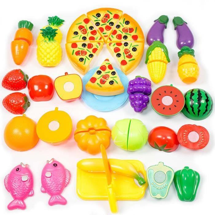 sopear 24pcs cuisine jouets pour enfants jouets en plastique pizza fruit l gume achat vente. Black Bedroom Furniture Sets. Home Design Ideas