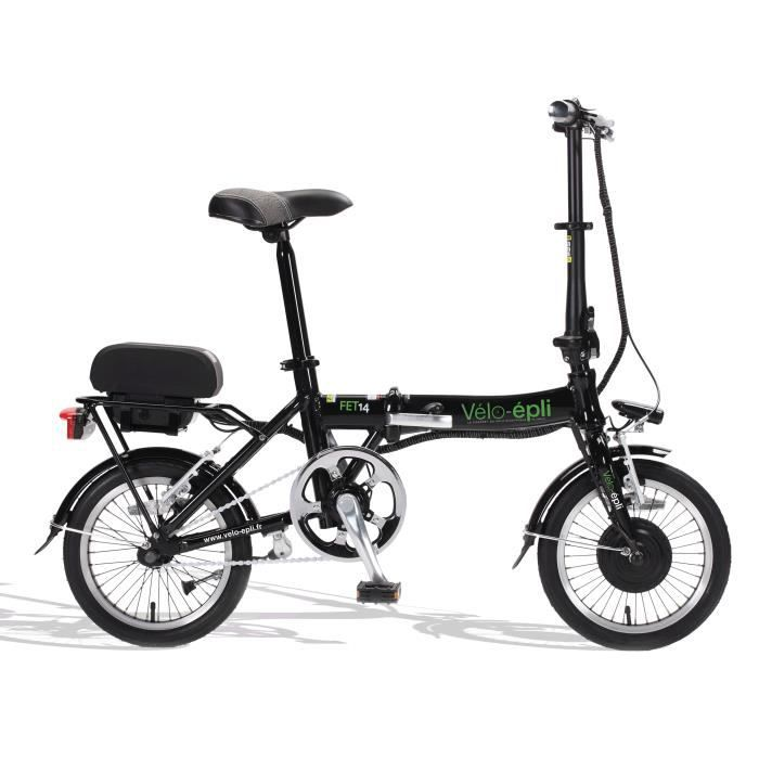 2ef52d162e02aa Vélo électrique pliant FET14 VELO-EPLI Noir - Prix pas cher - Cdiscount