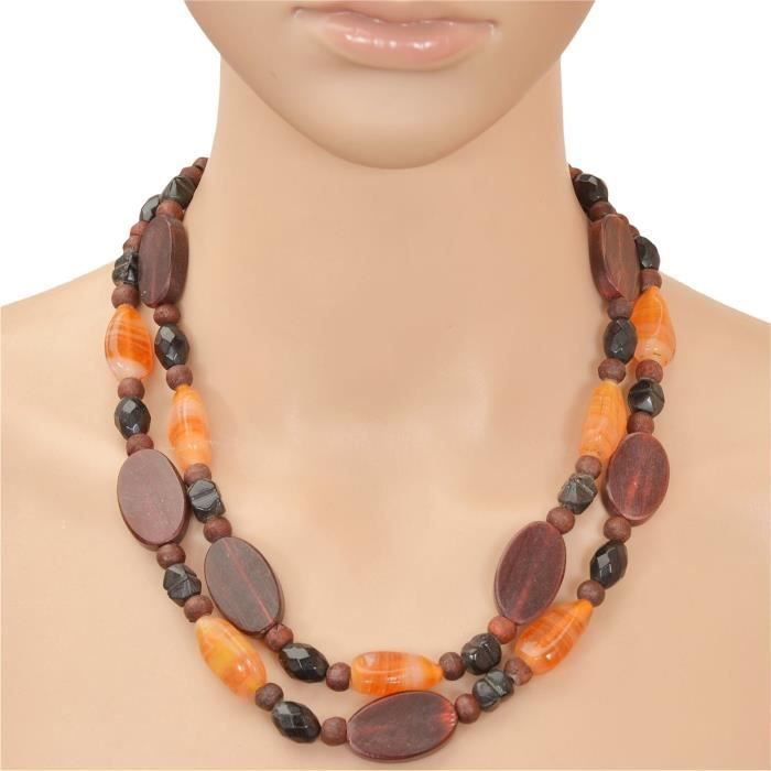 Womens Fashion Handmade Beaded Double Strand Necklace With Glass Beads For AndXSSIN