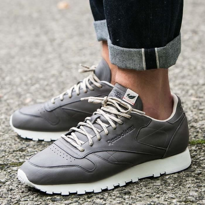 Chaussures Reebok Classic Leather Eco Pack Cyclone Grey