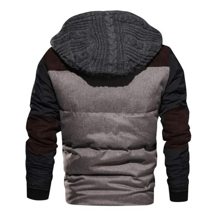 Casual Jackets Épais Hiver Rétro Homme Militaire Veste Classique Manteaux Minetom Biker Manteau Blouson Parka Longue Chaud B8xZqg