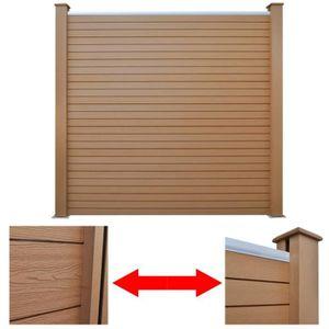 panneau bois brise vue composite achat vente pas cher. Black Bedroom Furniture Sets. Home Design Ideas