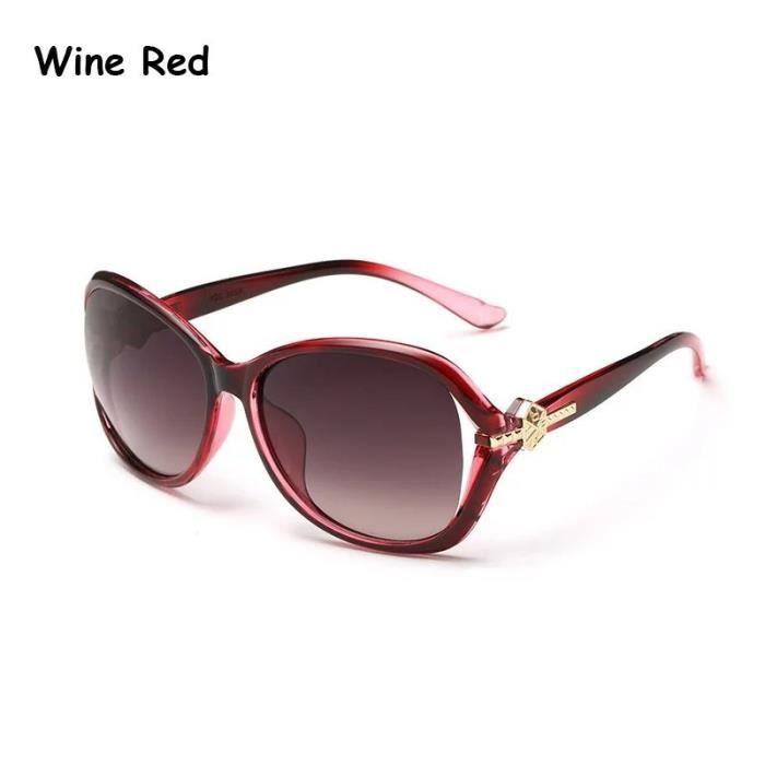 d29b91d2444a57 ... Mode Femmes colorées Lunettes de rouge et multicolor rouge et  multicolorsoleil Lunettes de verres de haute